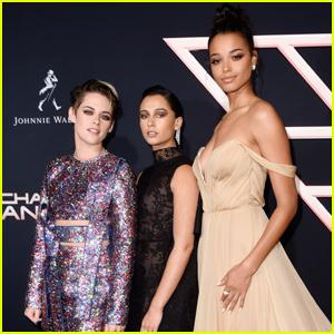 Kristen Stewart Joins Naomi Scott & Ella Balinska at 'Charlie's Angels' Premiere