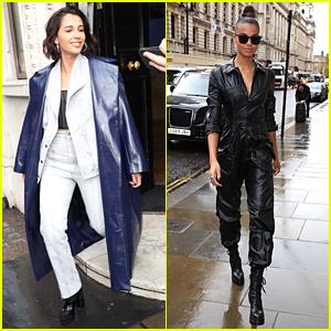 Naomi Scott & Ella Balinska Slay London Street Style For 'Charlie's Angels' Promo