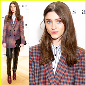 Natalia Dyer Hosts Sandro's Special Fashion Event in NYC