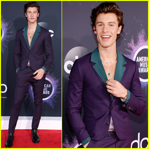 Shawn Mendes Suits Up For AMAs 2019