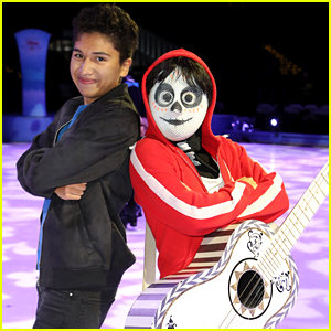 Coco's Anthony Gonzalez Poses With His Character Miguel at Disney On Ice Event