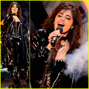 Camila Cabello's Latex Outfit For Z100's Jingle Ball 2019 Has Pearls On It!