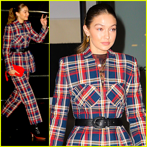 Gigi Hadid's Plaid Suit Is Fashion Goals As She Heads To Jingle Ball in NYC