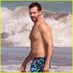 James Maslow Enjoys a Day at the Beach in Mexico