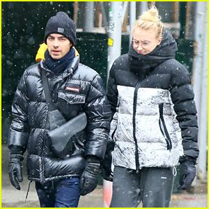 Sophie Turner Bundles Up with Joe Jonas During NYC Snow Storm!