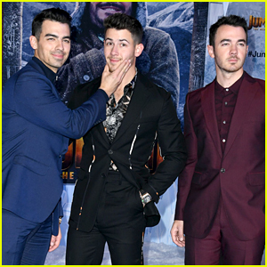 The Jonas Brothers Support Nick at His 'Jumanji' Premiere!