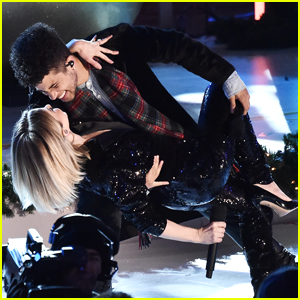 Jordan Fisher & Julianne Hough Kick Off Christmas With Their New Holiday Song 'All I Want For Christmas Is Love' at Rockefeller Tree Lighting