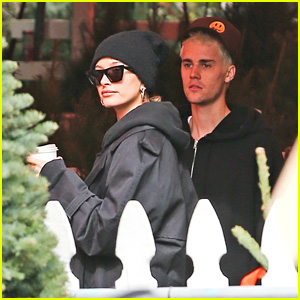 Justin & Hailey Bieber Head Out to Shop for Christmas Trees!