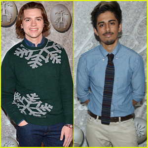 Joel Courtney & Karan Brar Support St. Jude at Brooks Brothers Holiday Celebration