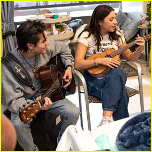 Kenzie Ziegler & Isaak Presley Visit Children's Hospital For Music Therapy