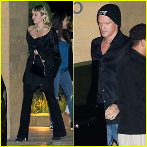 Miley Cyrus & BF Cody Simpson Enjoy a Dinner Date With Friends!