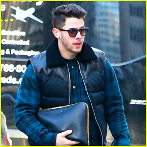 Nick Jonas Heads Out For Meetings In NYC