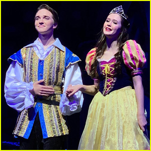 Olivia Sanabia & Michael Campion Get Into Character in 'A Snow White Christmas!'