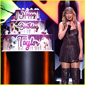 Taylor Swift Gets Birthday Cake With Her Cats On It During Jingle Ball 2019 in NYC!