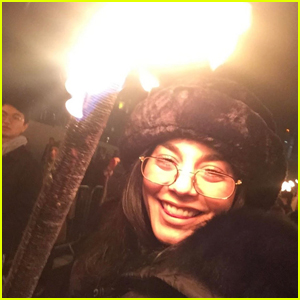 Vanessa Hudgens Lights Up The New Year In Scotland