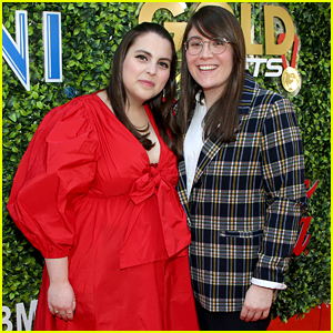 Beanie Feldstein & Girlfriend Bonnie Chance Roberts Make a Cute Couple During Globes Weekend!