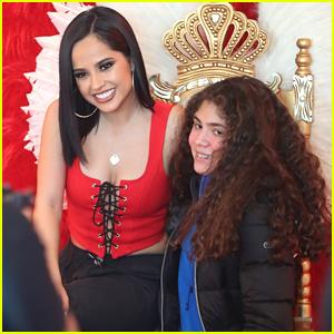 Becky G Meets Fans at 'Mala Santa' Pop-Up Event