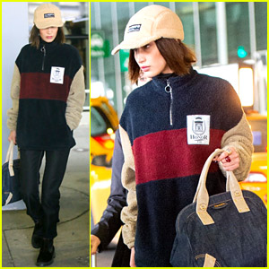Bella Hadid Arrives Home in N.Y. After Paris Fashion Week!