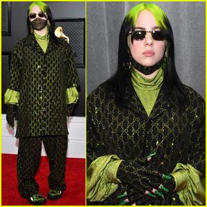 Billie Eilish Dons an Embellished Mask for Grammys 2020!