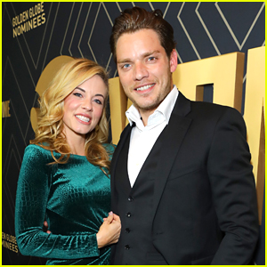 Dominic Sherwood Attends Showtime's Golden Globe Nominees Celebration with Molly Burnett!