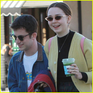 Dylan Minnette & Girlfriend Lydia Night Are All Smiles on Coffee Date