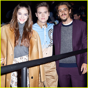 Dylan Sprouse & Barbara Palvin Buddy Up with Brenton Thwaites at Prada Show in Milan!