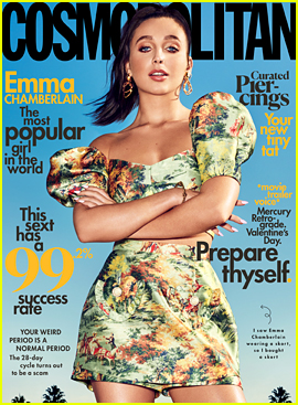 Emma Chamberlain Covers Cosmopolitan's February Issue For First US Magazine Cover