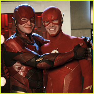 Grant Gustin & Ezra Miller Come Face-to-Face as The Flash!