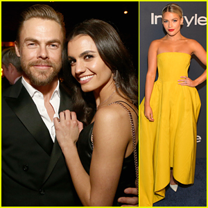 Hayley Erbert & Derek Hough Are All Loved Up at Golden Globes Parties