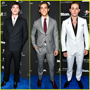Jacob Elordi, Brenton Thwaites & Dacre Montgomery Suit Up at G'Day USA Benefit