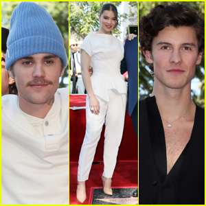 Justin Bieber Joins Hailee Steinfeld & Shawn Mendes at UMG's Chief Lucian Grainge Walk of Fame Ceremony!