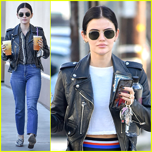 Lucy Hale Gets Double Dose of Caffeine Ahead of the Weekend