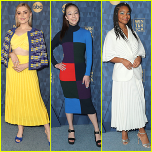 Meg Donnelly, Aubrey Anderson-Emmons, & Marsai Martin All Accessorize With Blue At ABC's Winter TCA Party