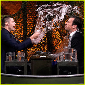 Noah Centineo Gets Soaked During 'Water War' With Jimmy Fallon - Watch!