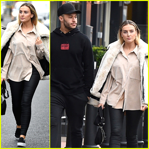 Perrie Edwards & Alex Oxlade-Chamberlain Step Out For Lunch Date In England