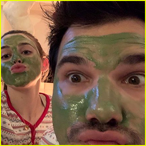 Taylor Lautner & Girlfriend Tay Dome Couple Up for Saturday Face Masks