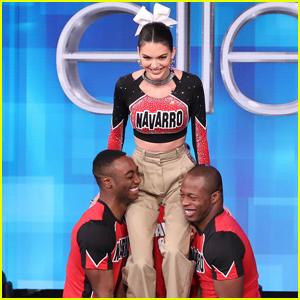 Watch the 'Cheer' Cast Teach Kendall Jenner a Few Stunts!
