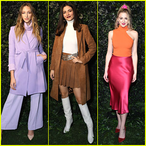 Ava Michelle & Chloe Lukasiak Bring The Color To Alice + Olivia Fashion Show