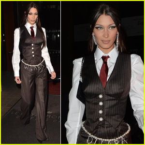 Bella Hadid Suits Up for Night Out in Paris