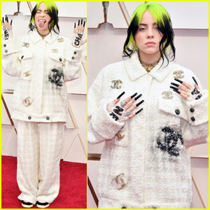 Billie Eilish Joins Brother Finneas at Oscars 2020