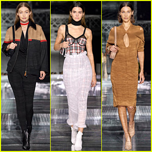 Gigi, Kendall, & Bella Add Star Power to Burberry's LFW Show!