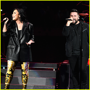 Demi Lovato Joins Dan & Shay For Surprise Performance of 'Speechless' at Super Bowl Music Fest!