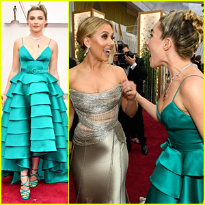 Florence Pugh Shares Cute Moment With 'Black Widow' Co-Star Scarlett Johansson at Oscars 2020