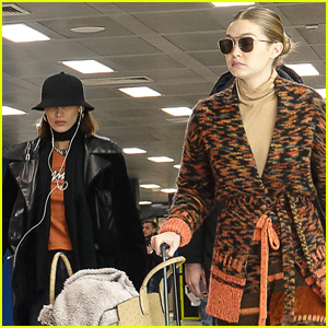Bella & Gigi Hadid Catch a Flight Out of Milan