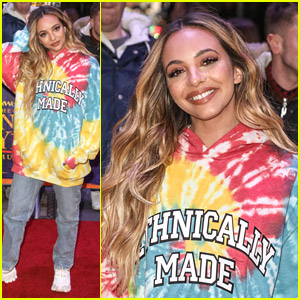 Jade Thirlwall Wears Colorful Sweater To 'Prince of Egypt' Opening Night