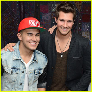 Carlos PenaVega & James Maslow Have Big Time Rush Reunion at the Gym!