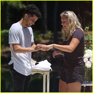 Jordan Fisher Shares Full Proposal Video to Fiancee Ellie Woods - Watch!
