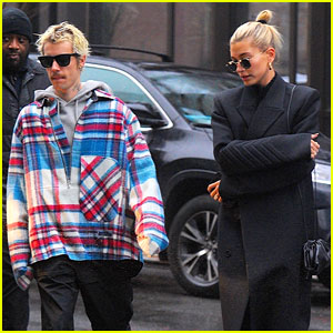 Justin Bieber Rides Around in His Luxury Van with Wife Hailey