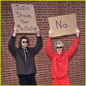 Even @DudeWithSign Wants Justin Bieber to Shave His Mustache!