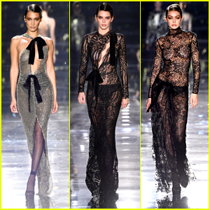 Kendall Jenner Goes Edgy & Sheer For Tom Ford Fashion Show